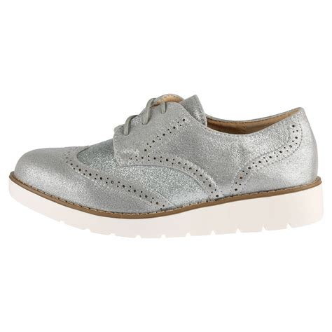 two tone oxford shoes womens womens brogues lace up glitter shimmer two tone
