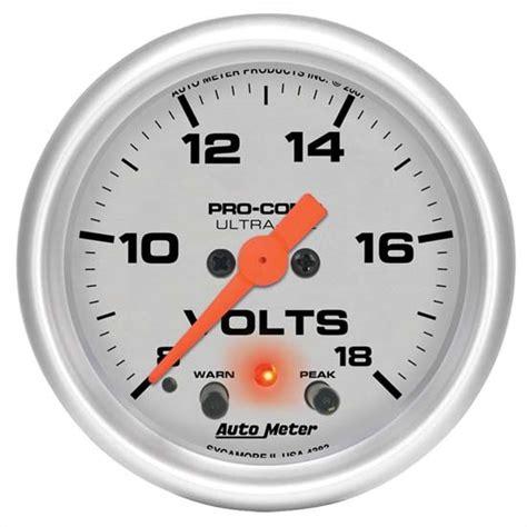 Volt Meter Voltmeter Digital Slim Acc Aksesoris Motor Termurah auto meter 4383 ultra lite digital stepper motor voltmeter