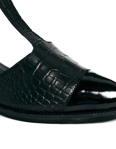 asos asos masterpiece leather t bar shoes at asos