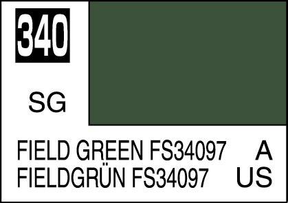 Mr Color Field Green Fs34097 C340 mr color paint field green fs34097 10ml c340 gsi c 340