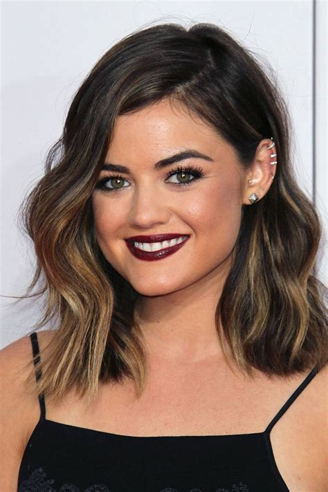 Medium Length Brown Hairstyles Brown Ombre Medium Length Shorthairstyleslong