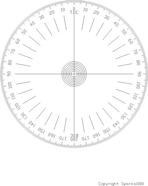 Degree Wheel Printable