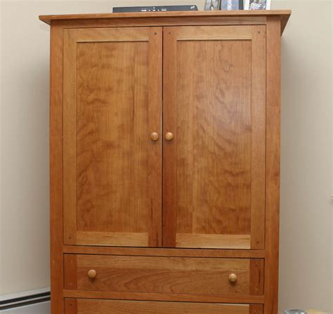 custom built cherry tv cabinet possible armoire cabinet use