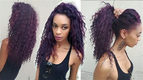 hair styles for after five how to blend your leave out with deep wave curly hair