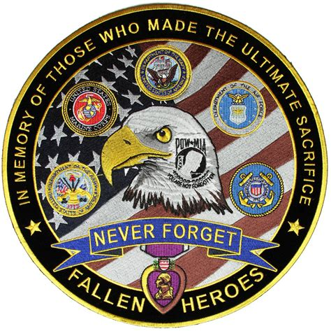Patchwork Patches - in memory of our fallen heroes never forgotten large back