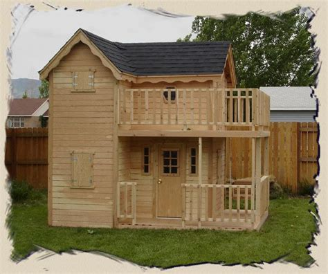 big backyard playhouse de 25 bedste id 233 er inden for playhouse plans p 229 pinterest