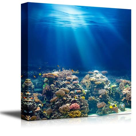 coral reef home decor canvas coral reef under the ocean sea modern home decor