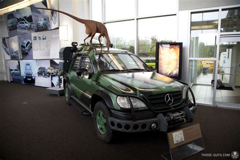 jurassic park car mercedes park lost world dino strike manufactured by kenner front