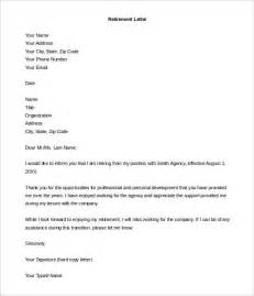 Cover Letter To Employer by Sle Of A Retirement Letter To Employer Cover Letter