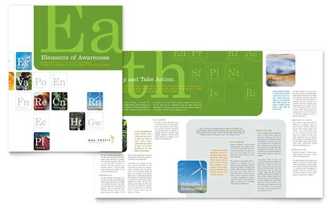 environmental agricultural  profit brochure template word publisher