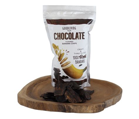 jual good living chips keripik pisang cokelat lemonilocom