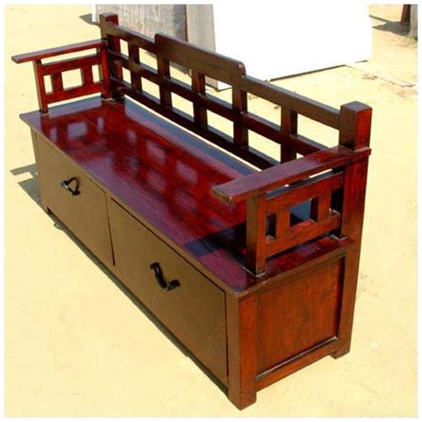 cherry storage bench cherry wooden trunk storage drawer box sofa long bench