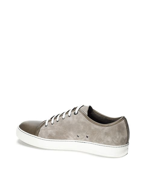 lanvin s sneakers lanvin sneakers in gray for lyst