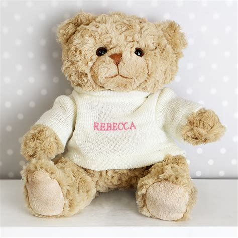 personalised teddy bear pink buy from prezzybox com