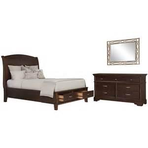 Platform Beds Value City Furniture City Furniture Canyon Mid Tone Wood Platform Storage Bedroom