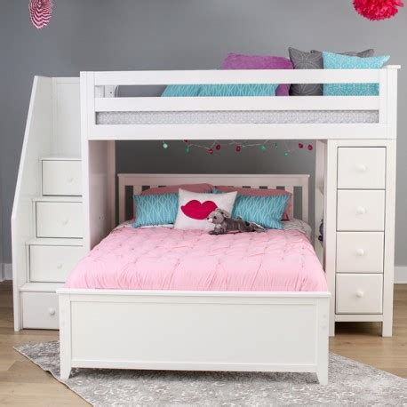 loft bunk beds stairs oxford 1 white loft bunk bed stairs storage