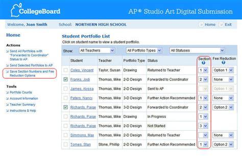 html section class designating class sections ap studio art digital