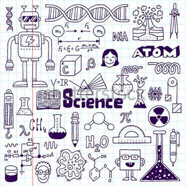 doodle your math book school science doodle set 2 vector stock vector