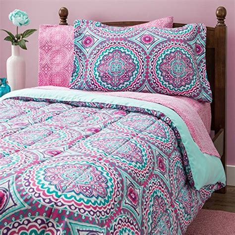 8 piece girls hippie comforter twin set multi floral