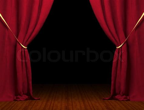 Curtains And Drapery 3d Red Curtain Stock Photo Colourbox