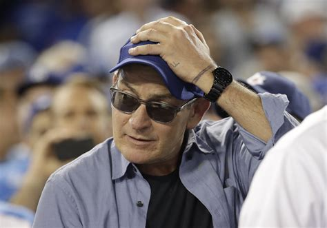 charlie sheen wont throw    pitch  game  chicago tribune
