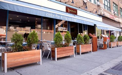 restaurant patio planters planter garden planter wood planter in 2019 outdoors