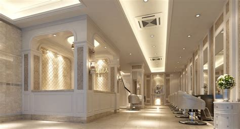 hong kong luxury hair salon interior design 3d house