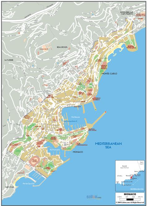 world map monte carlo detailed political map of monaco ezilon maps