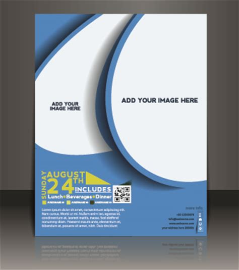 business flyer and brochure cover design vector 11 – over