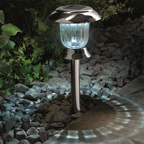 Cole And Bright Solar Post Table Light Black Nickel On Sale Solar Table Light