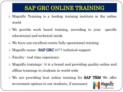sap tutorial training sap grc security training sap tutorial training in chennai