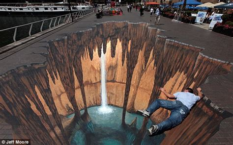 ilusiones opticas impactantes 10 ilusiones 243 pticas impactantes pintadas en la calle