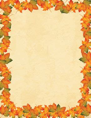 printable autumn stationery fall thanksgiving and halloween desktop stationery sheets