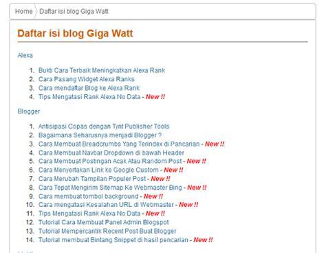 cara membuat daftar isi berbeda daftar isi otomatis dan cara membuat daftar isi otomatis update di blog blog
