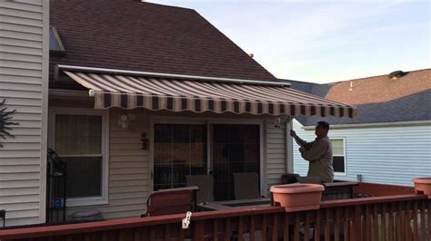 shade one awnings manual retractable awning in brick nj by shade one awnings youtube