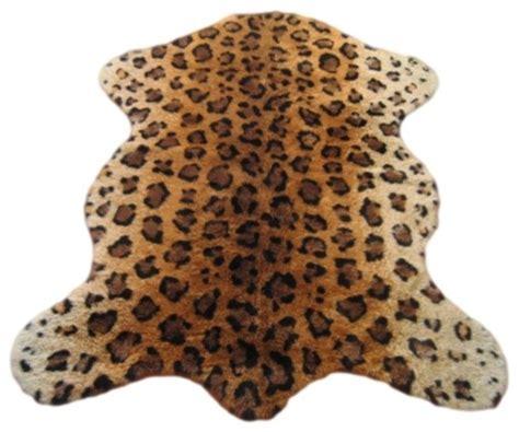 Faux Leopard Rug faux leopard skin pelt rug 40 quot x55 quot rustic rugs by