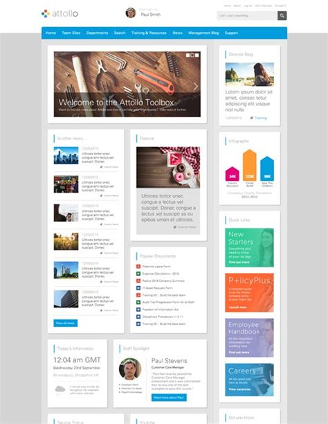 company intranet template find the best sharepoint intranet templates collab365