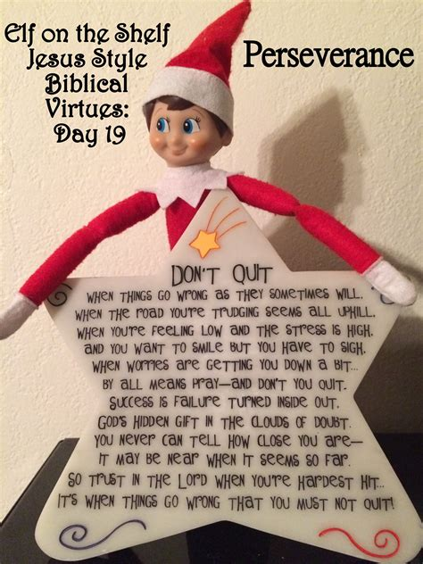 Jesus On The Shelf by On The Shelf Jesus Style Biblical Virtues Perseverance