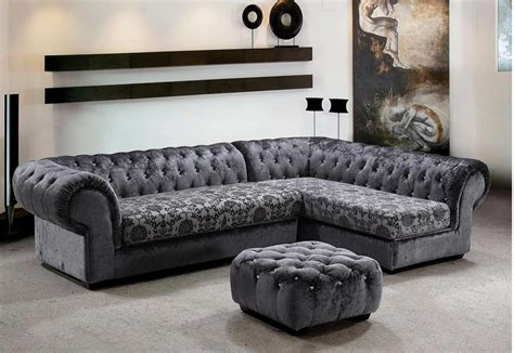 grey micro fiber sectional sofa ottoman sectionals