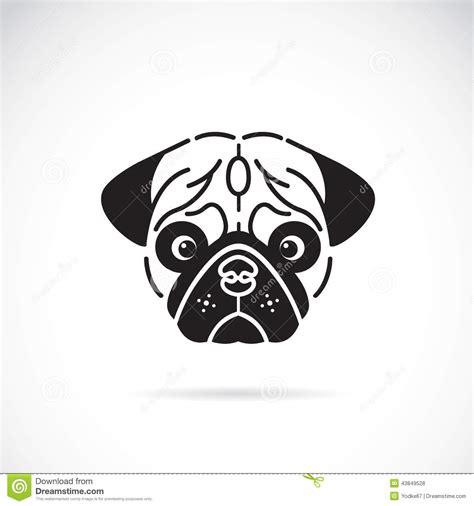 outline of a pug pin pug outline on denim blue on
