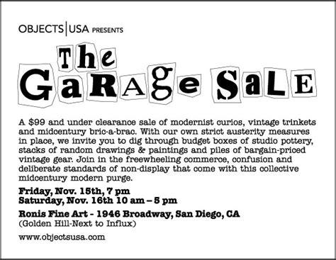 Garage Sale Ads by Modern San Diego