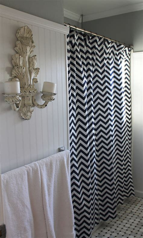 navy and white shower curtain navy white zigzag chevron shower curtain by lafortunelinens