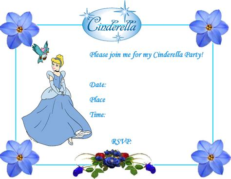 cinderella invitation to the template 7 best images of cinderella birthday invitations printable