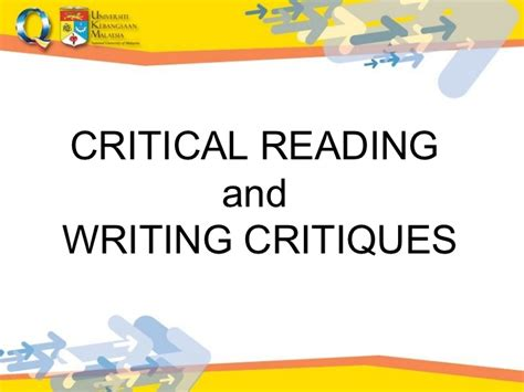 Critical Reading Essay by Academic Writing2011lec1