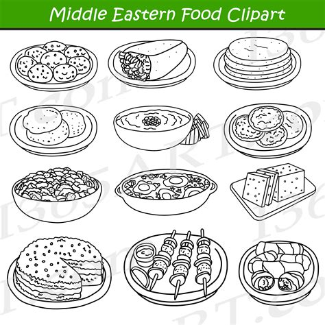 food clipart black and white middle eastern food clipart arabic food clip