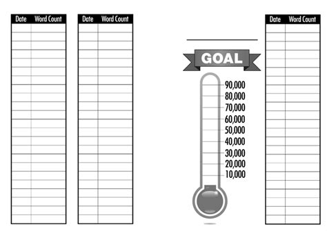 project word count trackers for a5 planners
