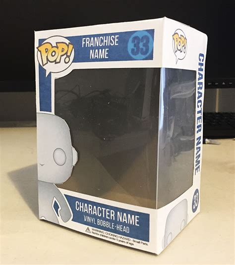 How To Make And Assemble Your Own Custom A4 Pop Box Pop Vinyl Faq Custom Box Template