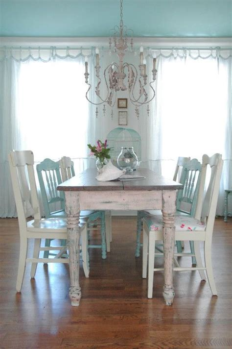 26 Ways To Create A Shabby Chic Dining Room Or Area Chic Dining Room Ideas