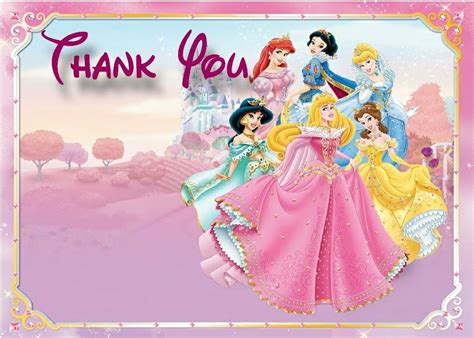 Can You Use A Disney Gift Card At Disneyland - 6 best images of disney princess thank you cards printable disney princess birthday