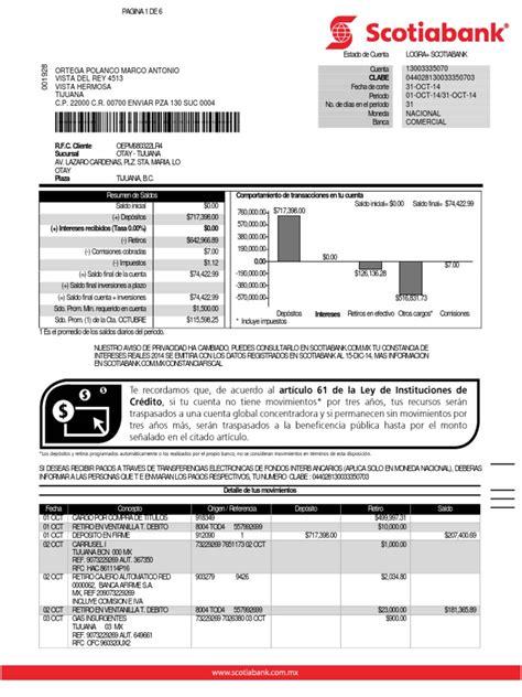 estado de cuenta scotiabank 3335070 nacional 20141031 pdf